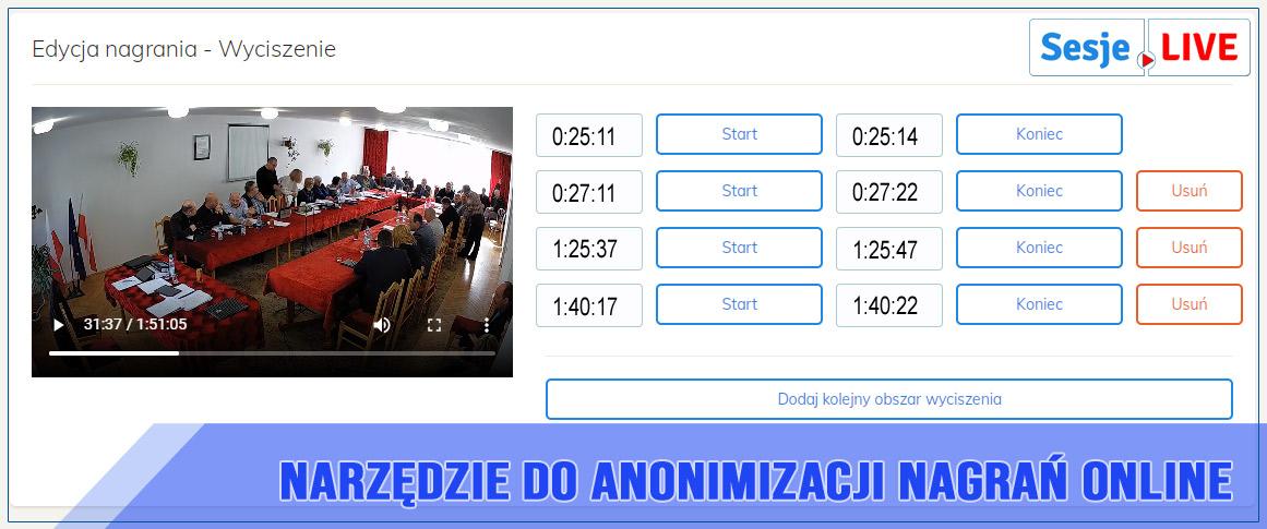 Anonimizacja sesji ONLINE
